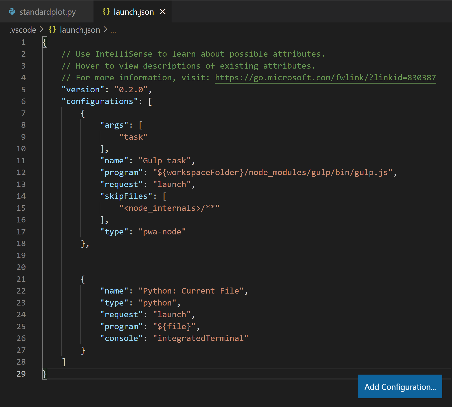 Debugging configurations for Python apps in Visual Studio Code